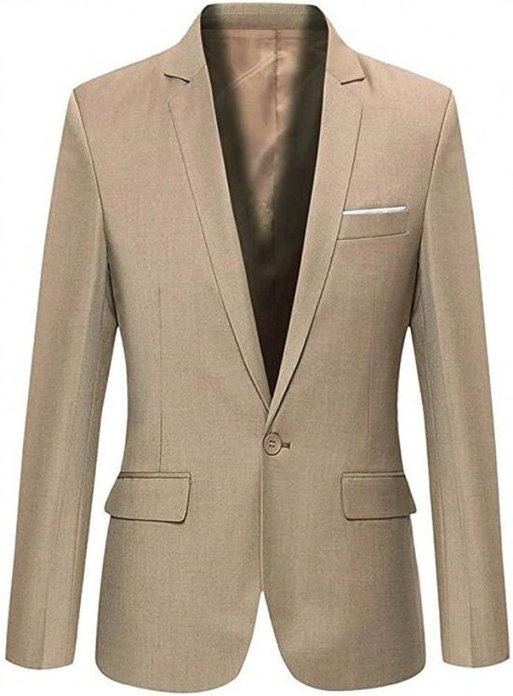 Botong Solid Black Tuxedo Jacket Suit Blazer Business Jacket Mens Jacket