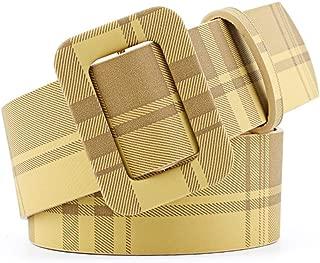 SGJFZD Retro Style Wide Belt Fashion Free Punching Ladies Fashionable Decorative Belt Dress Belt (Color : Yellow, Size : 105 * 4.3cm)