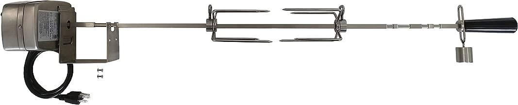 OneGrill Weber Fit Stainless Steel Complete Grill Rotisserie Kit W/ 13 Watt Electric Motor; 3/8 Inch Square Spit Rod (Fits: 300 Series 3 Burner Weber Genesis/Genesis II/Spirit/Spirit II)