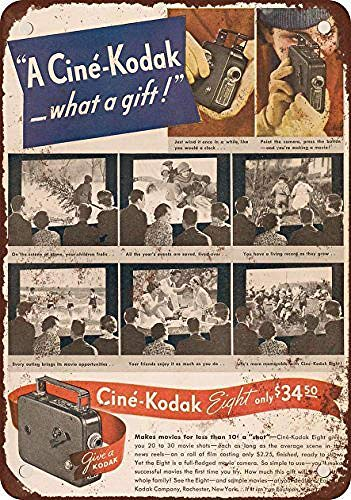 aoeiu Cine-Kodak Cartel de Metal Decoración de la Pared