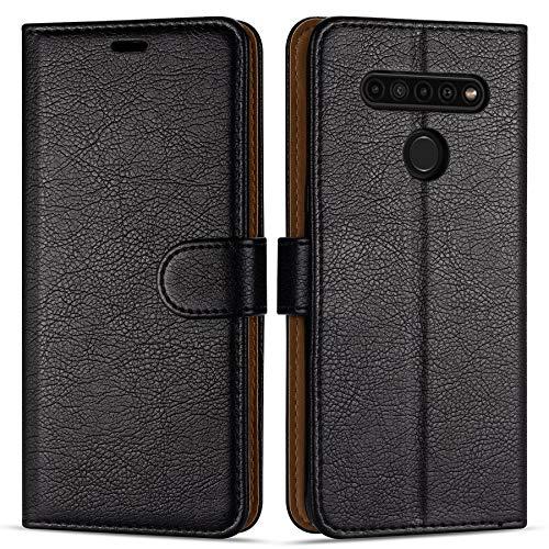 """Case Collection Hochwertige Leder hülle für LG K41s / K51s Hülle (6,55\"""") mit Kreditkarten, Geldfächern und Standfunktion für LG K41s / K51s Hülle"""