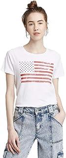 Grayson Threads Pink S Women/'s Ruffle Volume Long Sleeve T-Shirt Juniors/'