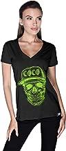 Creo Green Coco Skull T-Shirt For Women - S