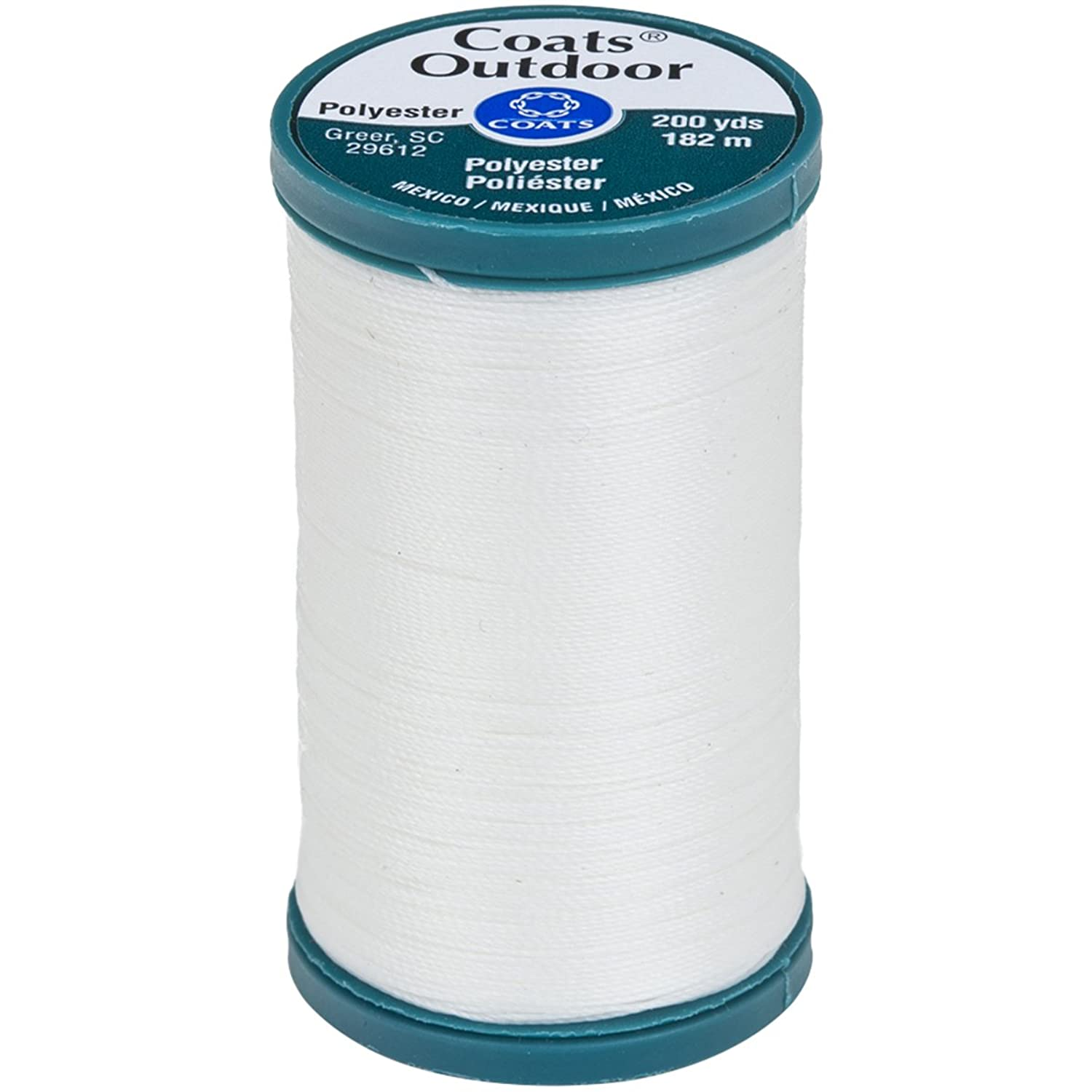 Coats Outdoor Living Thread, 200-Yard, White