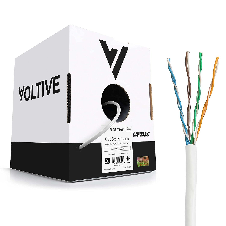 Voltive Cat 5e Plenum Ethernet Cable - C Oxygen-Free CMP Max 74% Special sale item OFF UTP