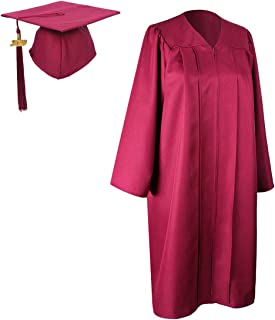 Unisex Adult Matte Graduation Gown Cap With Tassel 2019