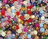 90 perlas de cristal checas de Bohemia de colores mezclados 4 x 3 mm cuentas de cristal facetadas
