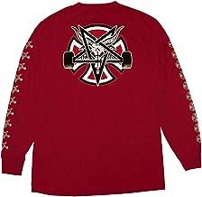 Independent Trucks x Thrasher Magazine Pentagram Cross Men's Long Sleeve T-Shirt - Cardinal Red - XXL