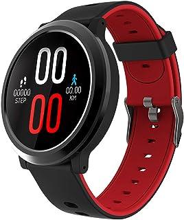 LTLJX Reloj Inteligente Mujer Hombre Smartwatch Pulsera Actividad Relojes Inteligentes Deportivo, Podometro Contador de Pasos, Calorías, Sueño,Distancia Cronómetros para iOS Android,Rojo
