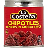 La Costena Chipolte Peppers In Adobo Sauce 7Oz Can - Pack Of 8