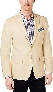 Men's Classic-Fit Ultra-Flex Solid Linen Sport Coat Yellow 41R