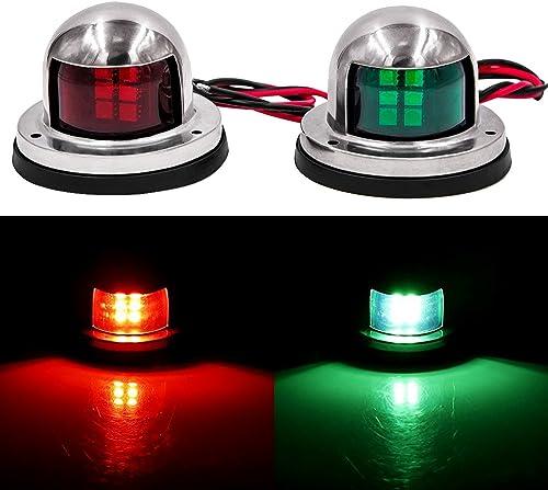 Obcursco LED Navigation Lights Deck Mount, New Marine Sailing Lights for Bow Side,Port, Starboard, Pontoons, Chandler...