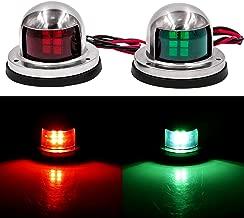 Obcursco LED Navigation Lights Deck Mount, New Marine Sailing Lights for Bow Side,Port, Starboard, Pontoons, Chandlery Boat, Yacht, Skeeter, DC 12V