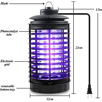 Fly Traps Bug Zapper Trap Insect Killer 2020 New Version Indoor Insect Zapper Fly Trap - Fly Zapper Mosquito Killer Safe & Non-Toxic - Silent & Effortless Operation pest Control Camping Patio