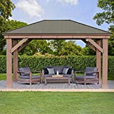 12' x 16' Cedar Gazebo with Aluminum Roof