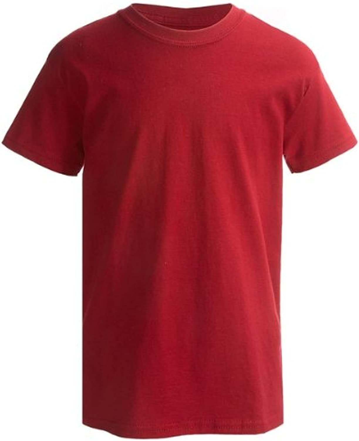 2-Pack Hanes ComfortSoft Youth Short Sleeve Tagless T-Shirt, ChiliRed, S 6/7