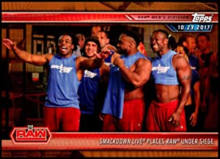 2019 Topps Road to WrestleMania Bronze #8 SmackDown Live Places Raw Under Siege WWE Wrestling Trading Card