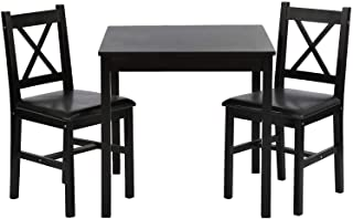FDW Dining Kitchen Table Dining Set 3 Piece Wood in Door...