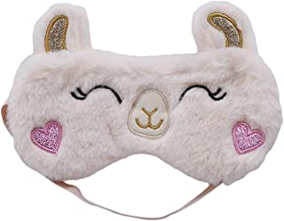 LALANG Cute Lovely Alpaca Style Mask for Sleeping Soft Comfortable Eye Mask Shade Eye Cover