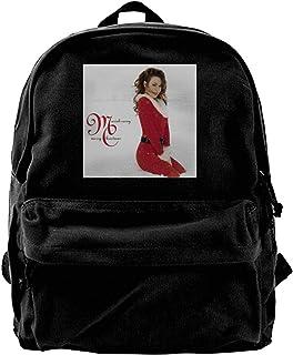 Mochila de lona Mariah Carey Merry Christmas banda de música mochila gimnasio senderismo portátil bolsa de hombro para hom...