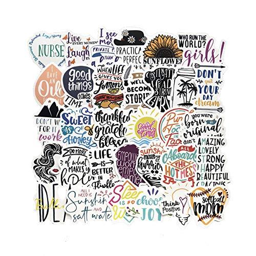 HHSM Cartoon-Aufkleber, personalisierbar, niedlich, PVC, Graffiti, Koffer, Gepäck, Gitarre, DIY-Handy-Hülle, wasserdichte Aufkleber, 100 Stück