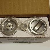 Acero Niquel satinado cerradura condena para puerta corredera /Ø57mm Emuca Kit de cerradura con muletilla redonda