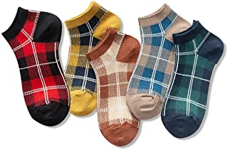 calcetín, calcetín de Hombre Cinco Pares Superficial Barco de Las Mujeres de la Boca de Verano Thin Primavera y Cortas otoño del Tubo Mujeres Mujer (Color : G)