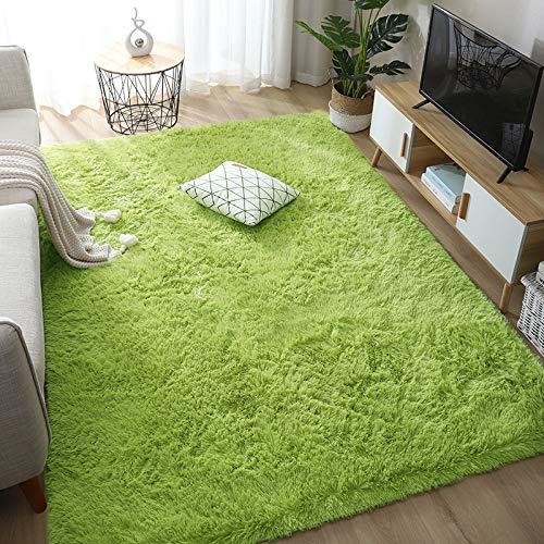 Rainlin - Alfombra de piel sintética para sala de estar, antideslizante, moderna, suave, extracómoda, esponjosa, para decoración del...