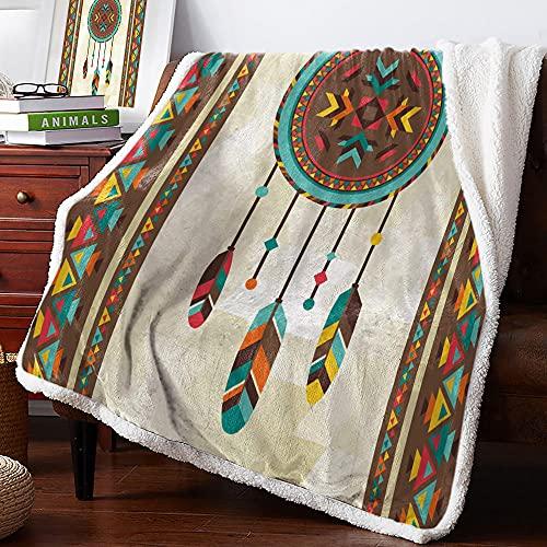 Wohndecken Kuscheldecken 150x200 Beigebrauner Ethno-Stil Sofaüberwurf Decke Weihnachtsdecke Kuscheldecke Mädchen Fleecedecke Flauschig Bedsure Kuscheldecke