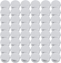 Tosnail 48 Pack 1 oz. Round Tins Lip Balm Tin Container Cosmetic Containers with Screw Thread Lid