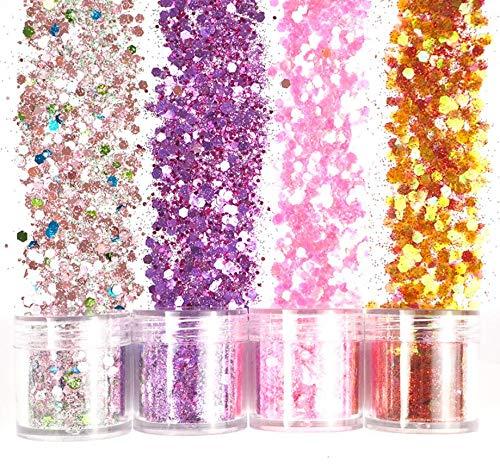 12 set di paillettes glitterate colorate, paillettes glitterate glitterate per resina stampo in silicone sottobicchieri stampo in resina epossidica fai-da-te, unghie festival di musica mascherata