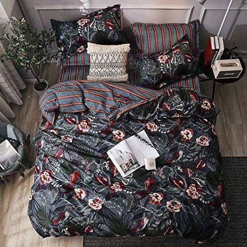 RITIOA Ruisaly Funda nórdica + Funda de Almohada Luxury Textile para el hogar, Juego de Cama de Tres Piezas, una Variedad de tamaños y Colores adecuados para Cama Individual o Doble.