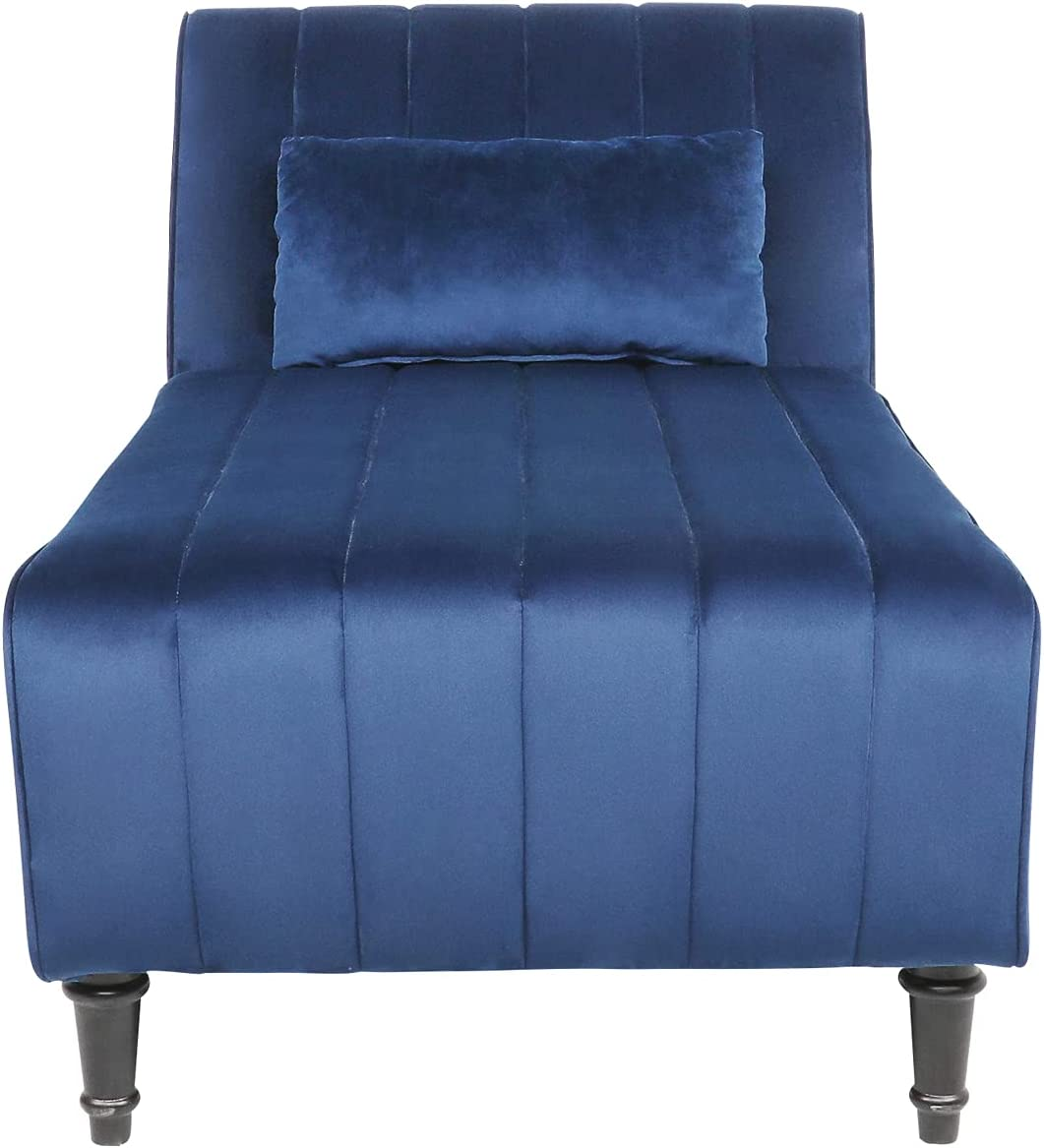 Modern Velvet Chaise Max 72% OFF Lounge Super sale period limited with Backrest Ultra Soft Pad