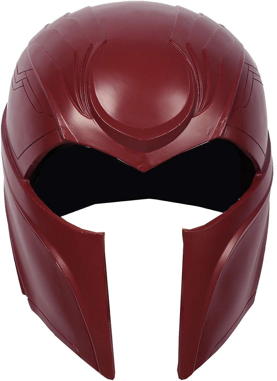 Pandacos Magneto Maske Herren Cosplay Helm Mask aus Harz Eine Gre Rot Kostüm Zubehr