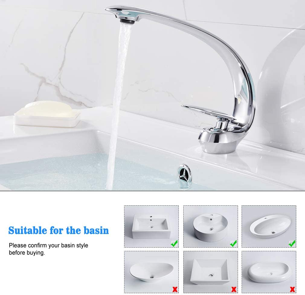 BONADE LED Wasserhahn Bad Wasserfall Waschtischarmatur aus Glas mit RGB 3 Farbewechsel Beleuchtung Einhandmischer Badarmatur mit Temperatursensor Waschbeckenarmatur f/ür Badezimmer