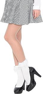 サテンリボン フリル付き ラッフルレース コットン クルーソックス 綿混 靴下 フォーマル ゴスロリ