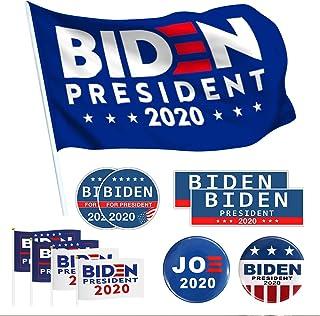 Biden 2020 Flag 3x5 Feet with Grommets Biden 2020 Sticker Biden Bumper Sticker Decal Hand Held Biden Flag Small Mini Flag for Parades, Election Day Celebration