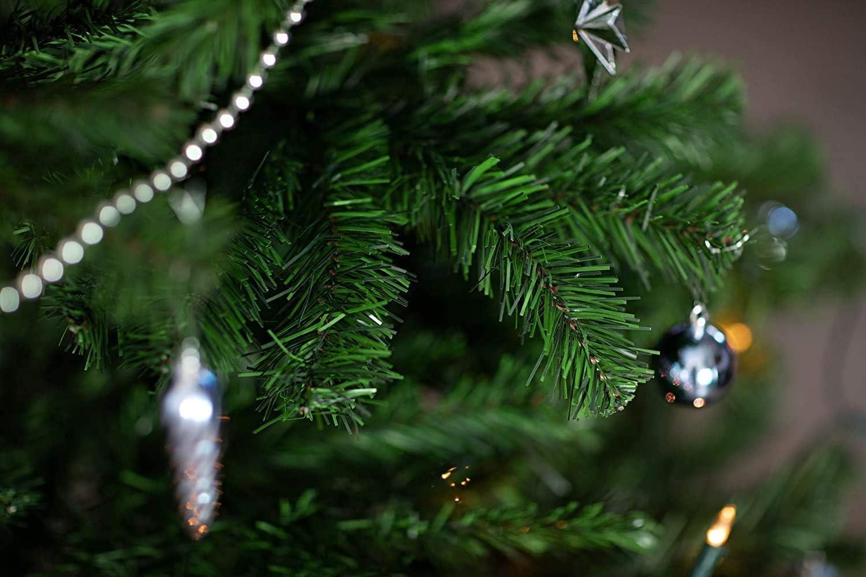 Cinta al bies de 30 mm x 2 m color blanco dise/ño de /árbol de Navidad