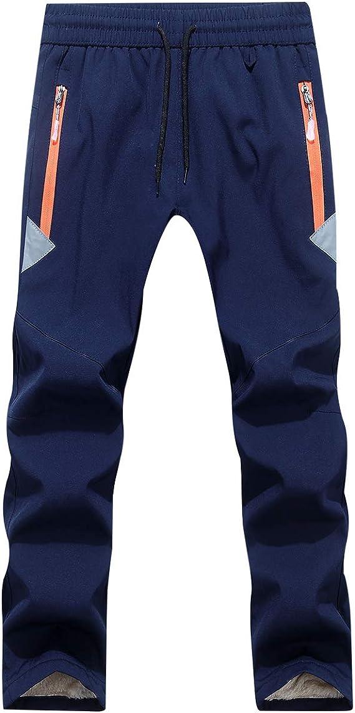 CAMLAKEE Pantalon Softshell Gar/çon Fille Pantalon Randonn/ée Doubl/é Polaire Enfant