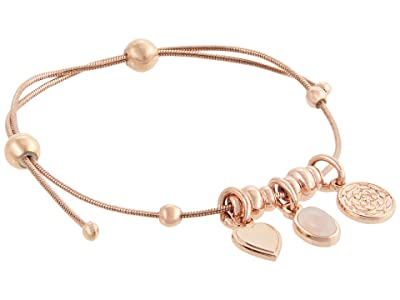 Alex and Ani Love and Rose Quartz Expandable Bracelet (Shiny Rose Gold) Bracelet