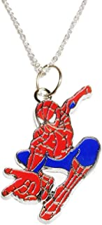 Main Street 24/7 Spider-Man in Action Enamel Metal Pendant Necklace