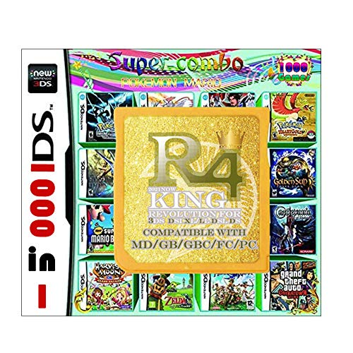 1000 Juegos en 1 Tarjeta NDS Game Pack con Adaptador USB, Cartucho de Juego para DS DSI 2DS 3DS 2DS XL 3DS XL