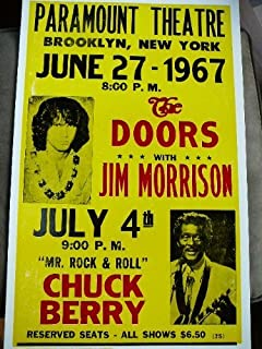 The Doors with Jim Morrison and Chuck Berry 1967 Concert Poster