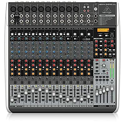Behringer QX2442USB Premium 24 Input 4/2 Bus Mixer with XENYX Mic, Preamps and Compressors