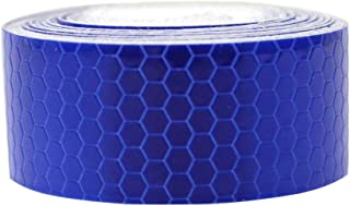 Reflective Tape Blue 2″X9.8′ For Trucks Trailers Car Park Traffic Warning Caution Conspicuity Tape Waterproof Self-Adhesive Reflector Tape-Reflective Tape 1 PCS