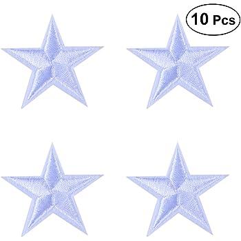 Hongma 10PCS Ricamato Patch Toppa Ricamata da Applicare con Ferro da Stiro Stella Paillettes Sticker Applique per Vestito Cappello Scarpe Jeans