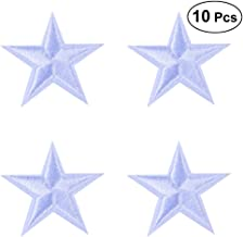 HEALLILY - Parches termoadhesivos con Forma de Estrellas para Manualidades, Camiseta, Vaqueros, Ropa, Bolsos, 10 Unidades