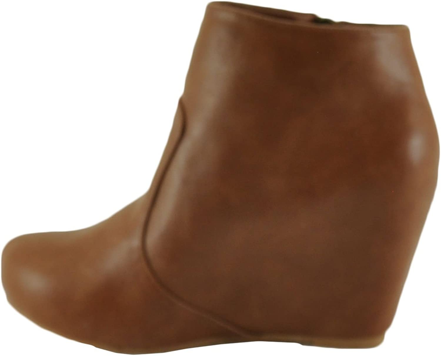 Bamboo Carmela 23 Women's Platform Hidden Wedge Bootie shoes