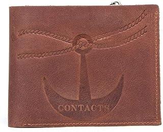 Slim Wallet RFID Front Pocket Minimalist Wallet - Brown Leather Wallet Men Bifold - Money Clip Wallets for Men with ID Win...