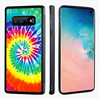 VONDER Galaxy S10 Case,Rainbow Tie Dye Anti-Skid with Aluminum Metal Soft TPU Phone Cases Compatible for Samsung Galaxy S10 Cover